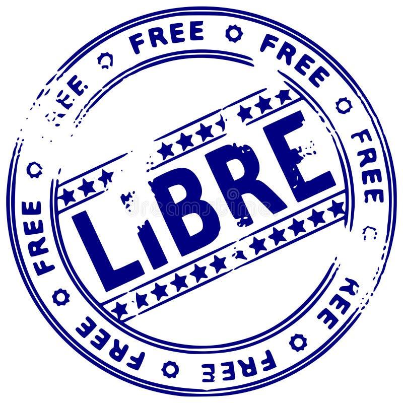 Sello de Grunge LIBRE - francés libre illustration