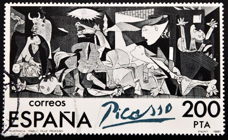 Sello de Guernica, Pablo Picasso imagen de archivo libre de regalías