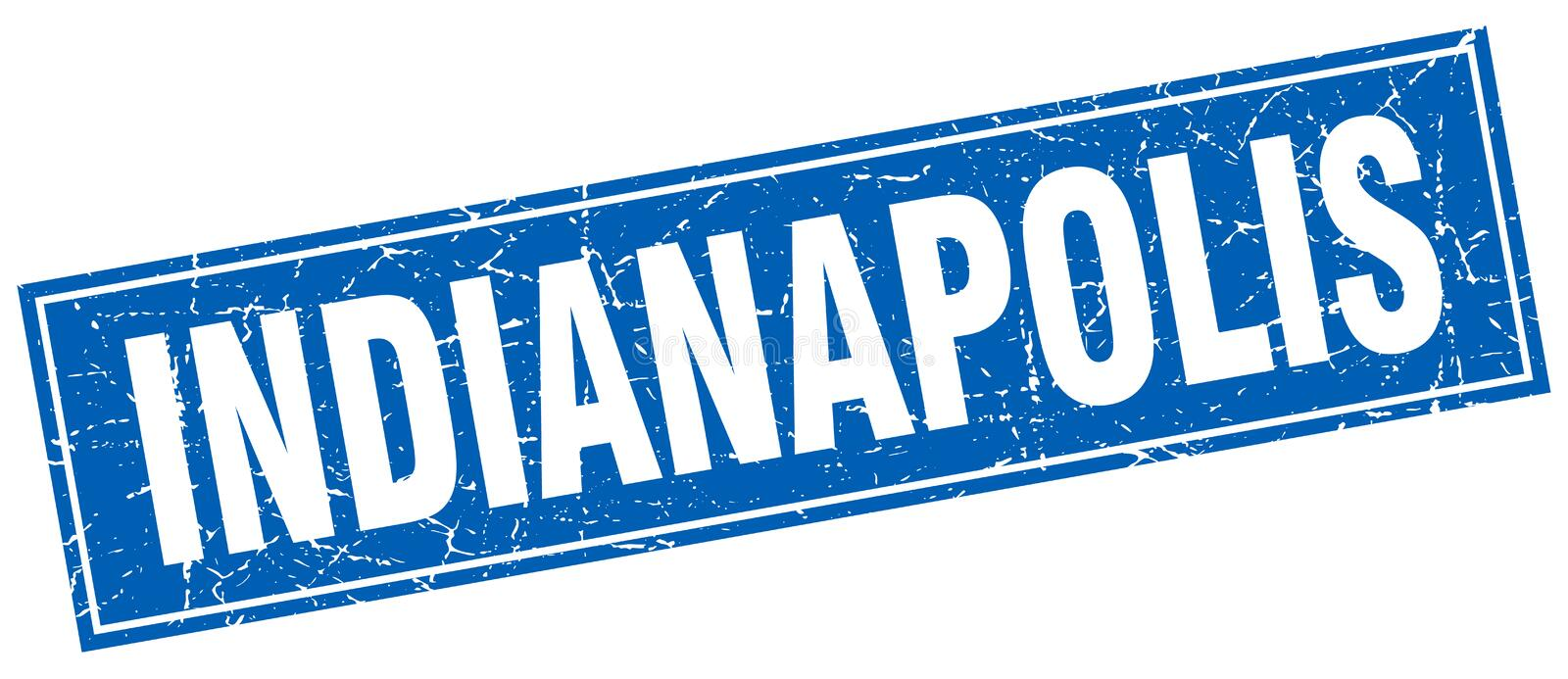 Sello de Indianapolis stock de ilustración