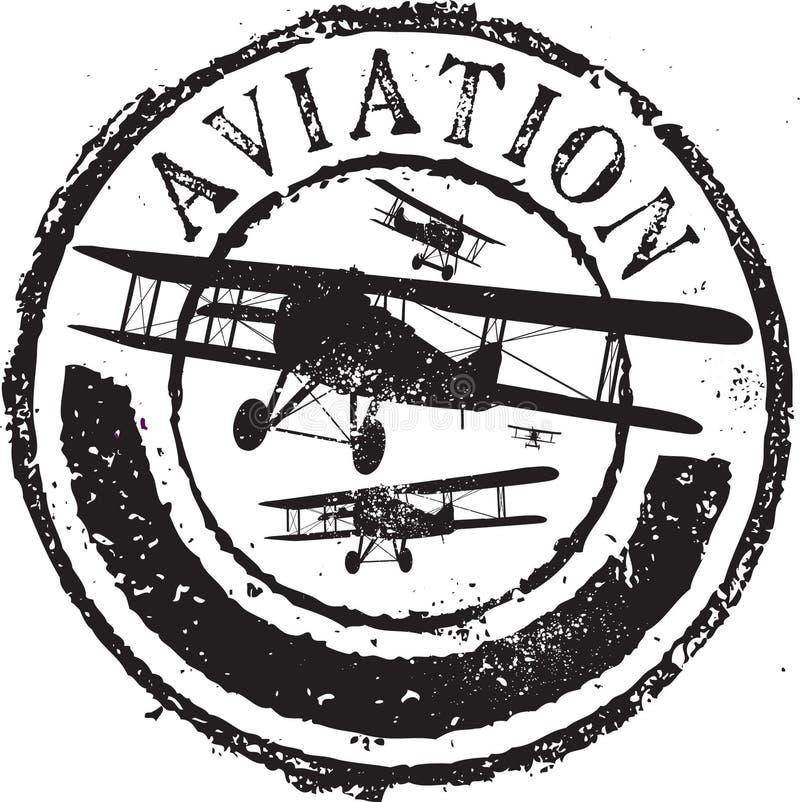 Sello de la aviación ilustración del vector