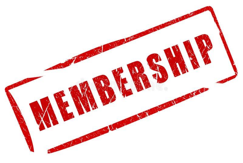 Sello de la calidad de miembro stock de ilustración