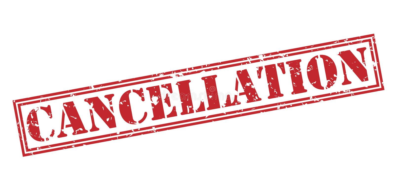 Sello de la cancelación stock de ilustración