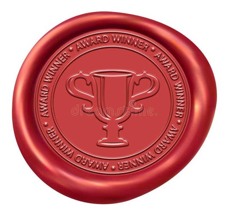 Sello de la cera de la muestra del trofeo ilustración del vector