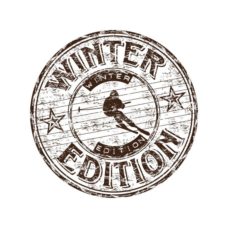 Sello de la edición del invierno stock de ilustración