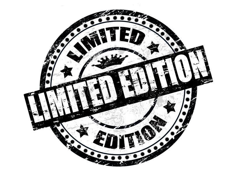 Sello de la edición limitada ilustración del vector