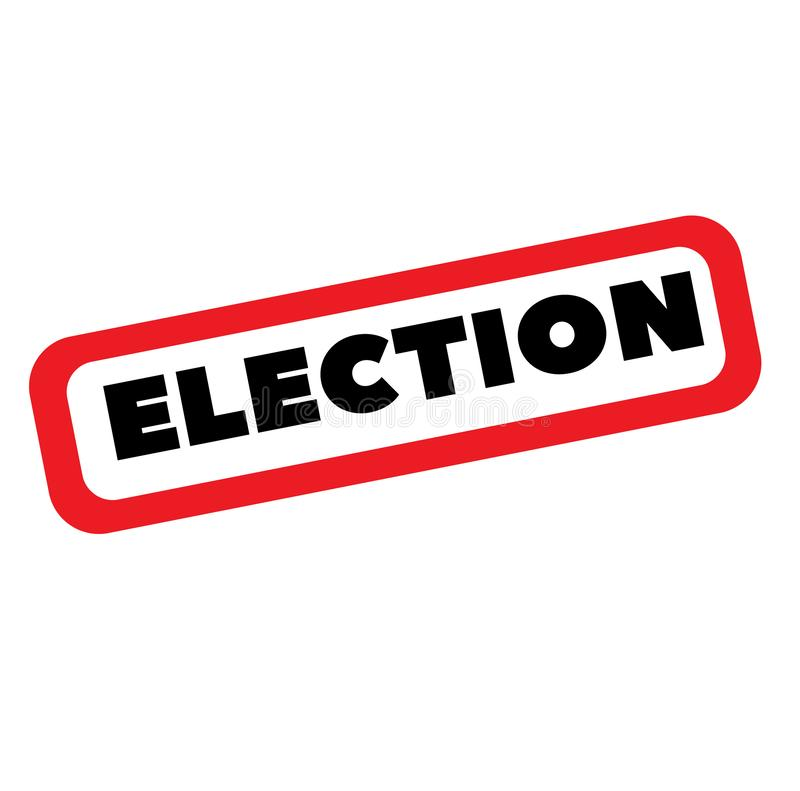 Sello de la elección en blanco libre illustration