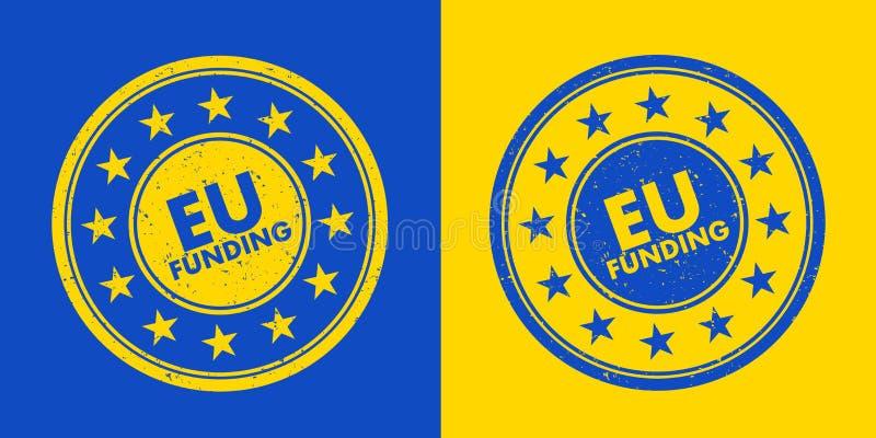 Sello de la financiación de la UE stock de ilustración