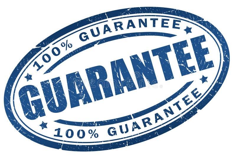 Sello de la garantía stock de ilustración