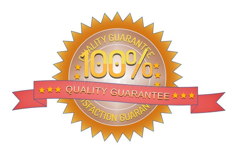 Sello de la garantía de calidad aislado en blanco stock de ilustración