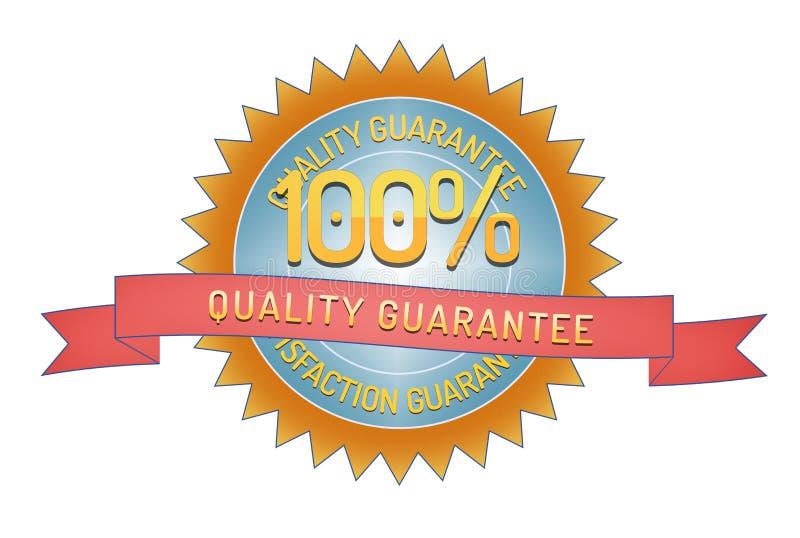 Sello de la garantía de calidad aislado en blanco libre illustration