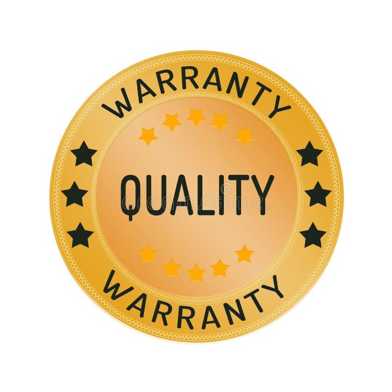 Sello de la garantía de la calidad aislado en blanco ilustración del vector