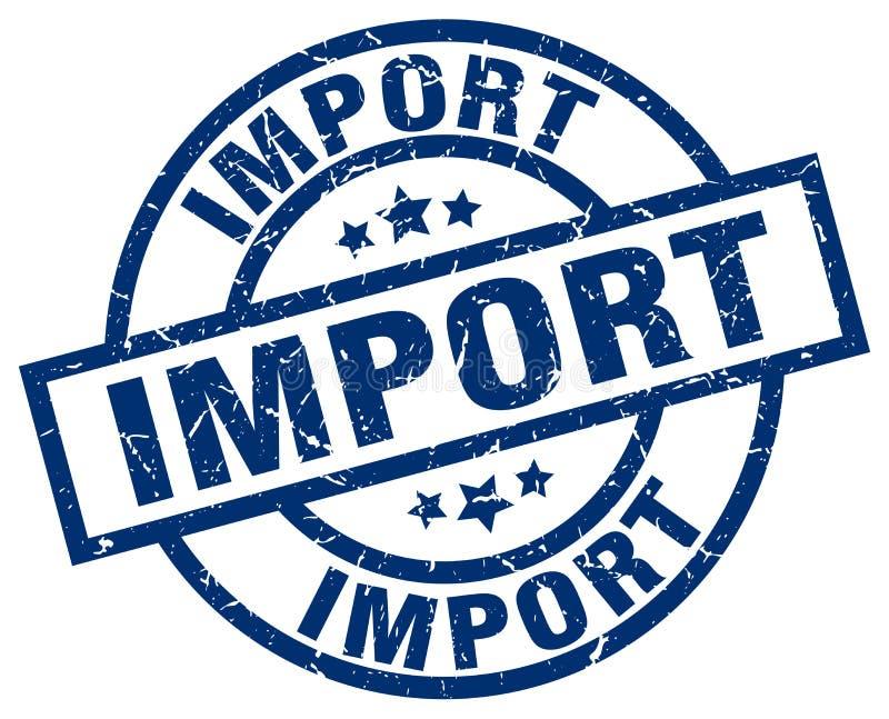 Sello de la importación stock de ilustración