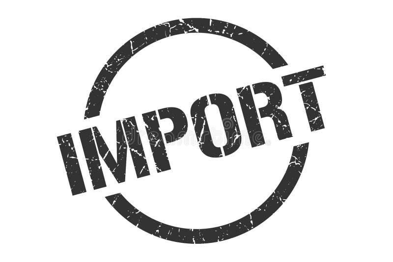 Sello de la importación ilustración del vector