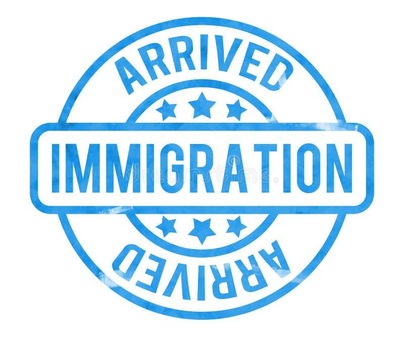 Sello de la inmigración stock de ilustración
