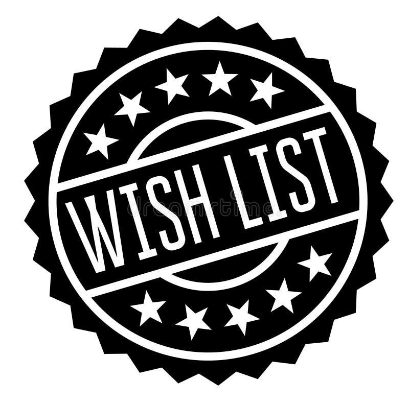 Sello de la lista de objetivos en blanco stock de ilustración