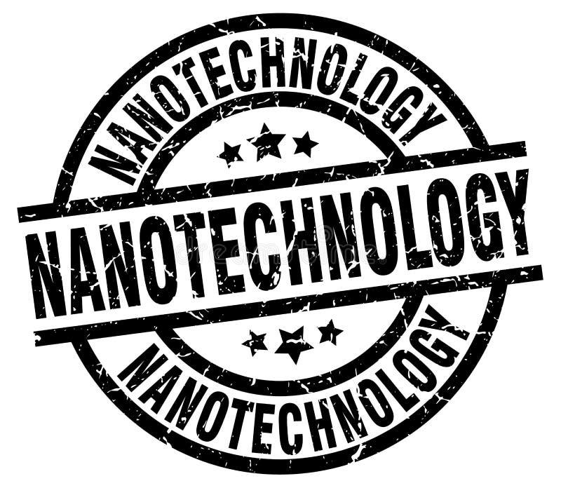 Sello de la nanotecnología stock de ilustración