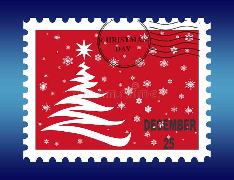 Sello de la Navidad stock de ilustración