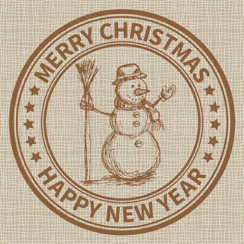 Sello de la Navidad libre illustration