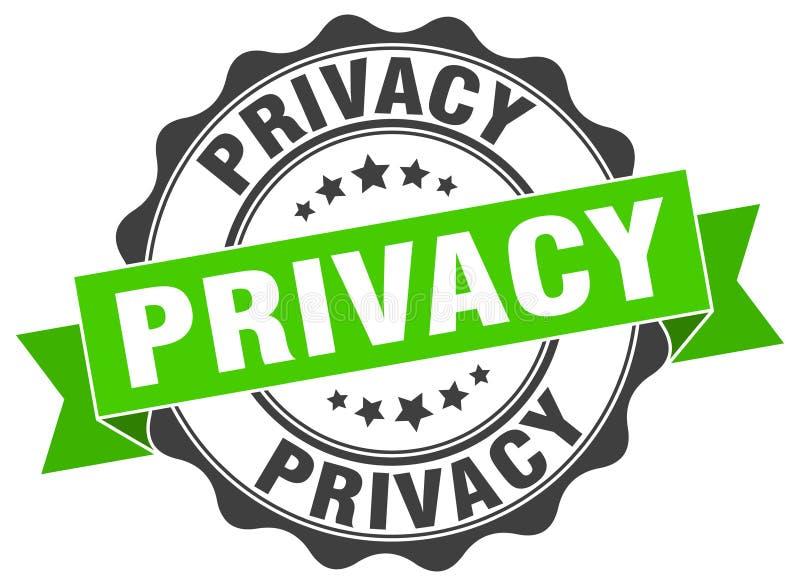 sello de la privacidad sello ilustración del vector