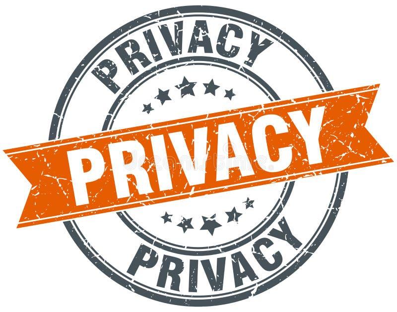 Sello de la privacidad libre illustration