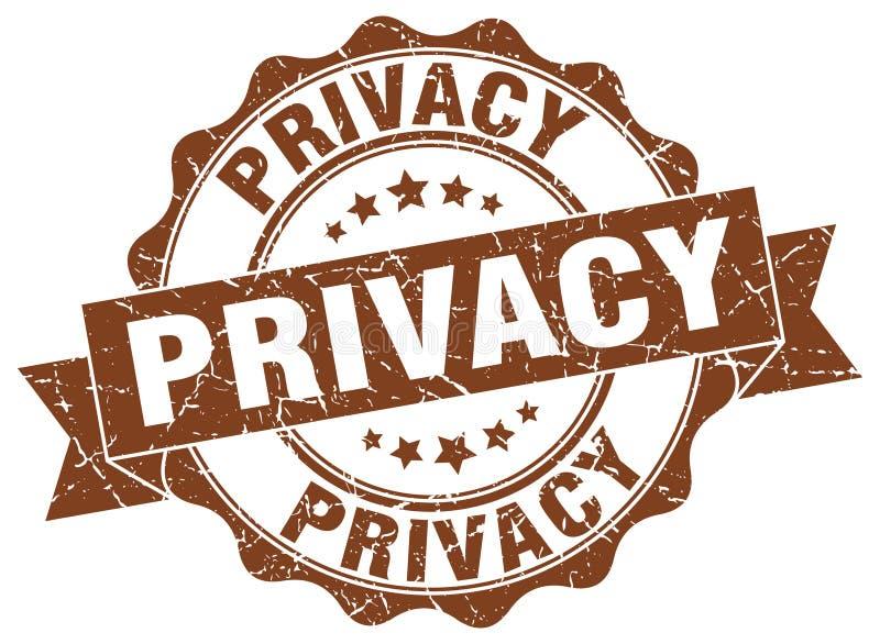 sello de la privacidad sello stock de ilustración