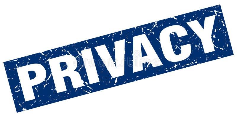 Sello de la privacidad stock de ilustración