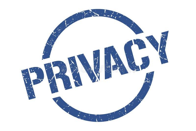 Sello de la privacidad ilustración del vector