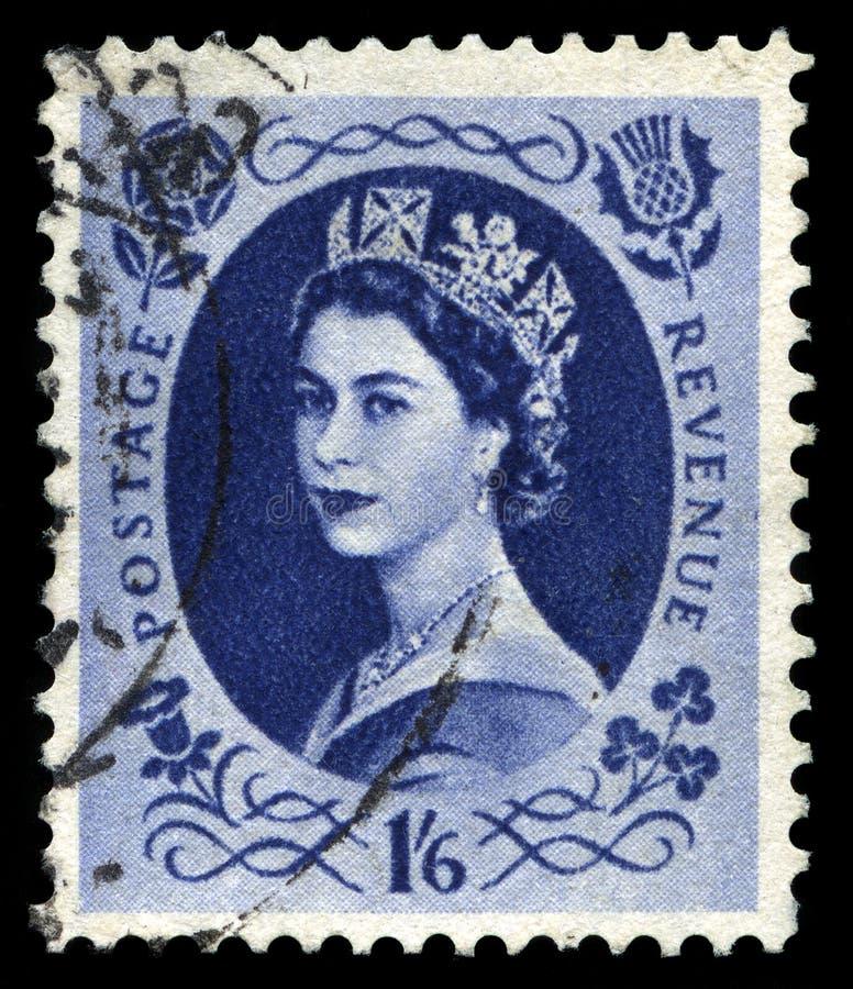 Sello de la reina Elizabeth II del vintage imágenes de archivo libres de regalías