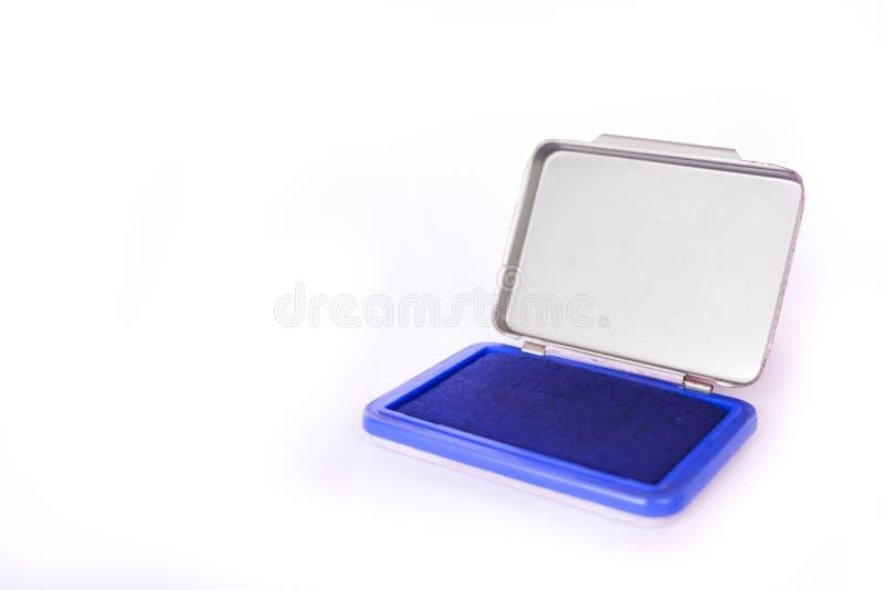 Sello de la tinta azul imagenes de archivo