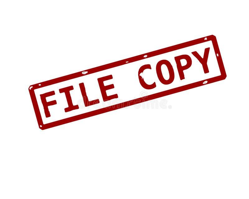 Sello de la tinta de la copia de fichero ilustración del vector