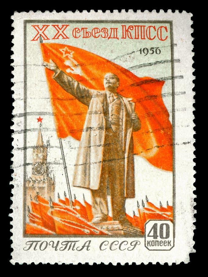 Sello de la vendimia de 1956 rusos foto de archivo