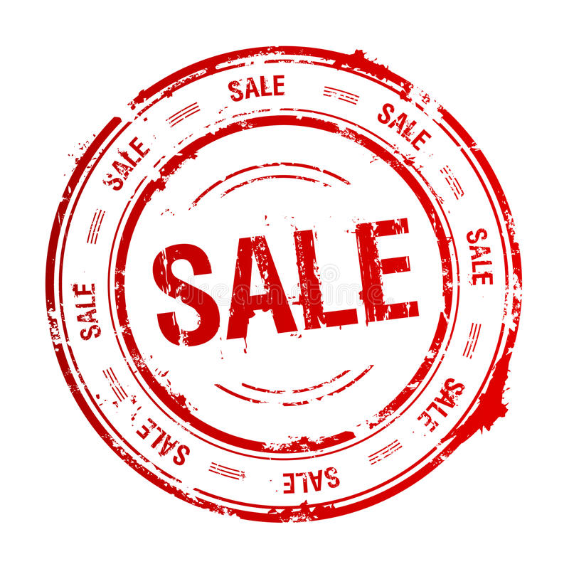 Sello de la venta. ilustración del vector