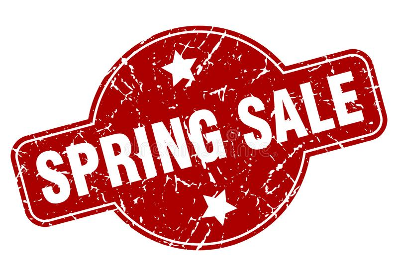 Sello de la venta de la primavera ilustración del vector