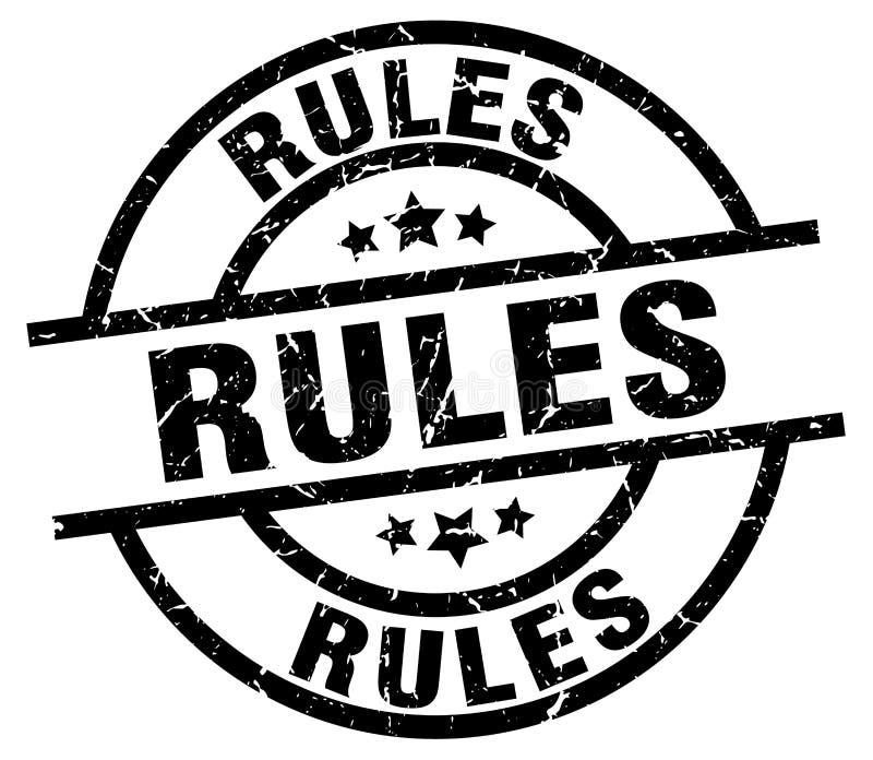 Sello de las reglas stock de ilustración