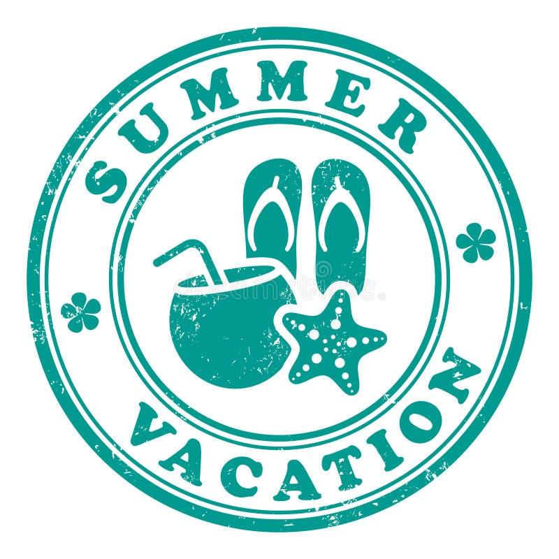 Sello de las vacaciones de verano stock de ilustración