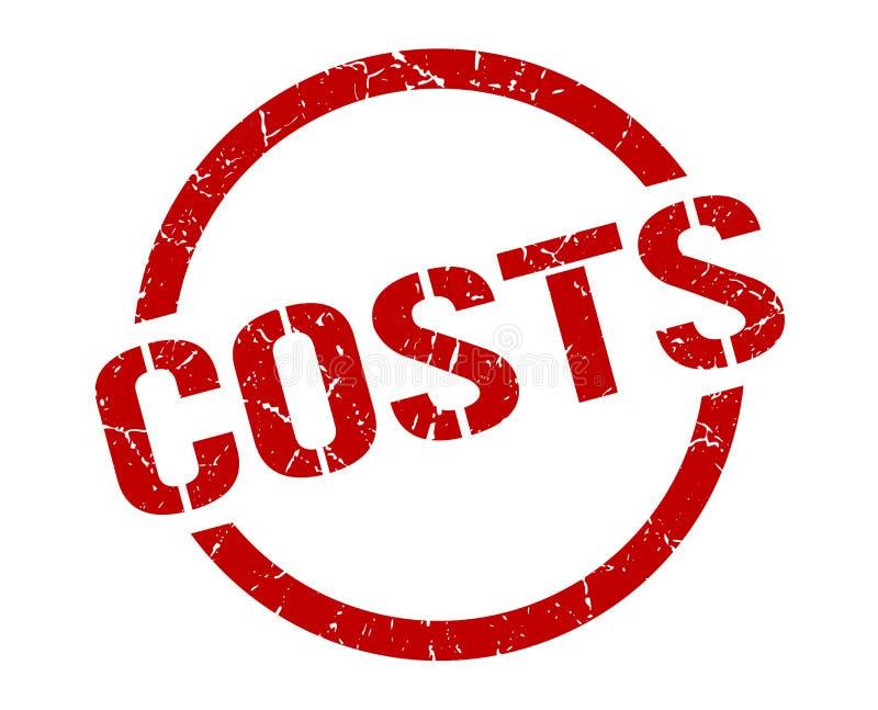 Sello de los costes ilustración del vector