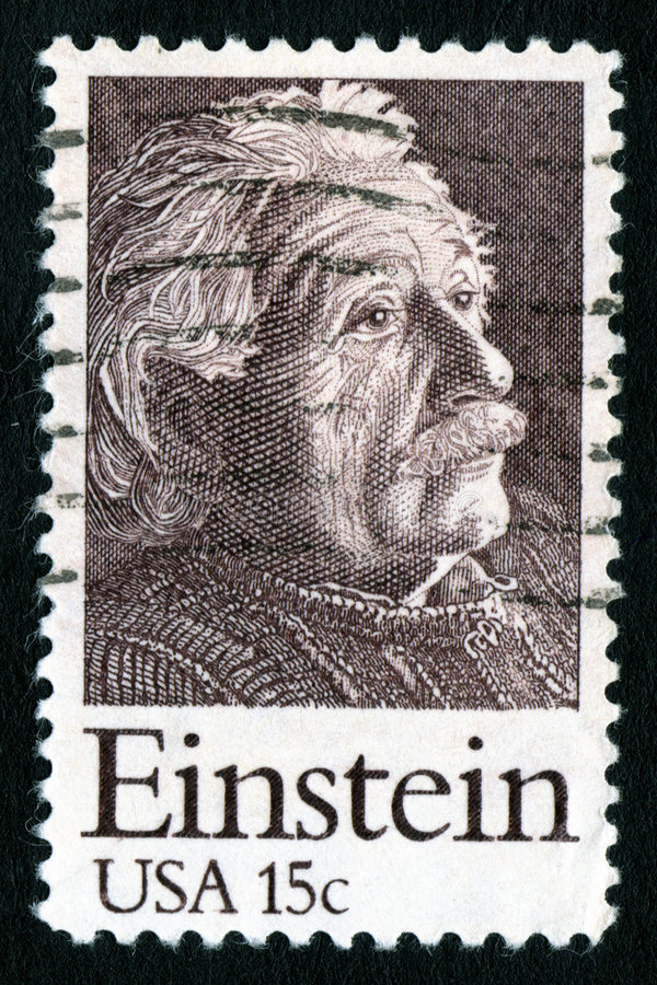 Sello de los E.E.U.U. 15c Einstein imagenes de archivo