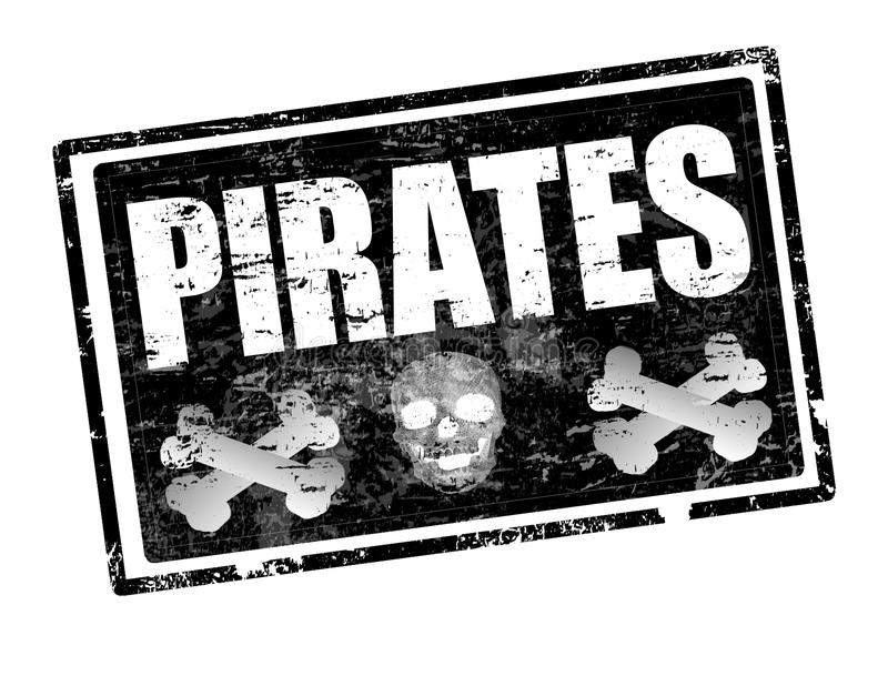 Sello de los piratas ilustración del vector