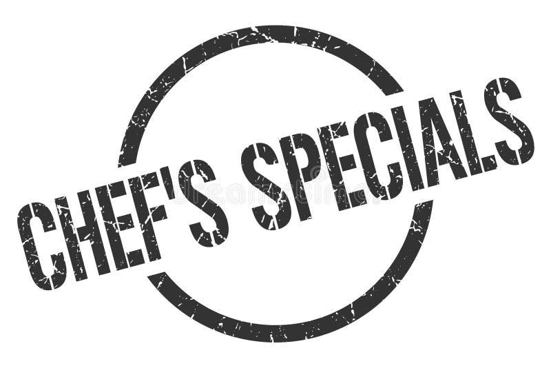 sello de los specials del cocinero stock de ilustración