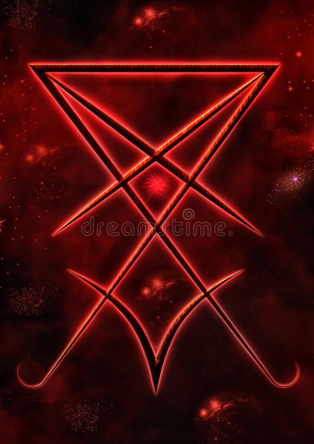 Sello de Lucifer ilustración del vector