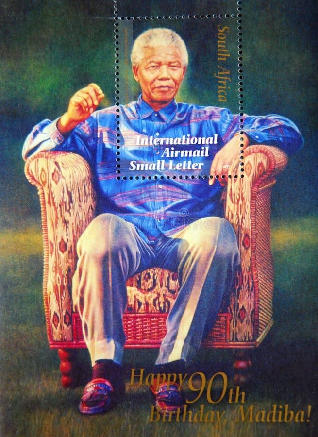 Sello de Nelson Mandela foto de archivo libre de regalías