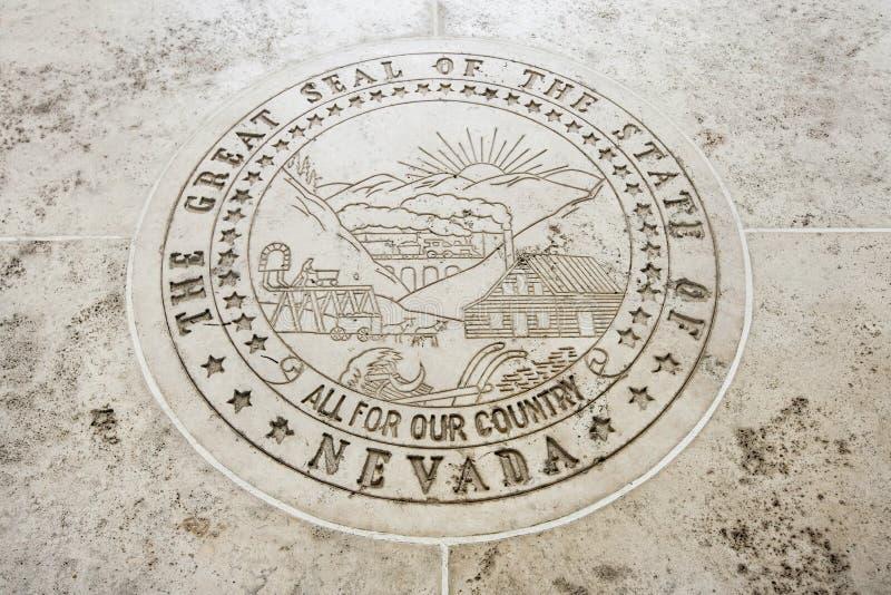 Sello de Nevada en Fort Bonifacio, Manila, Filipinas imagen de archivo