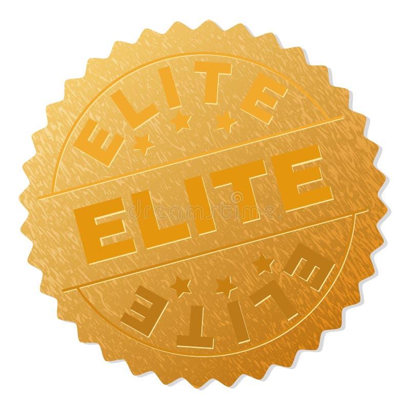 Sello de oro de la insignia de la ÉLITE libre illustration