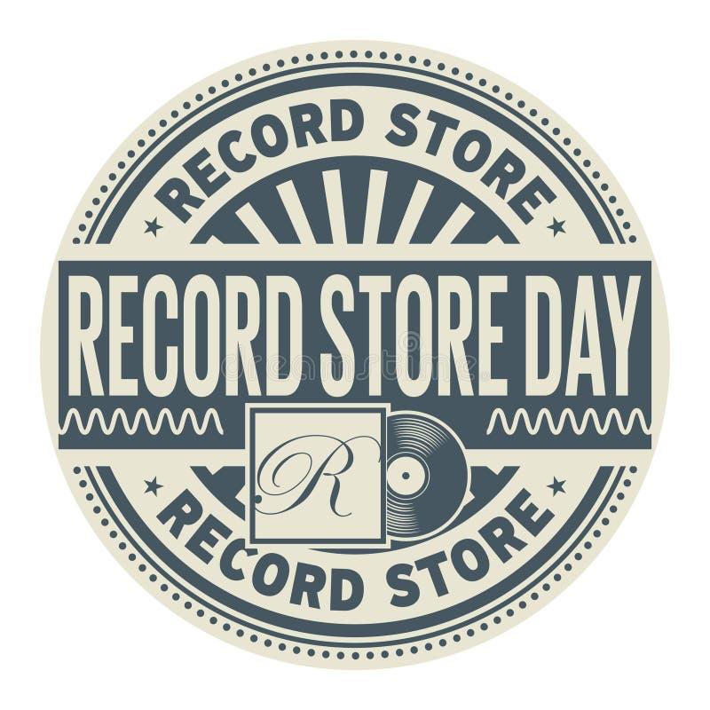 Sello de registro del día de la tienda stock de ilustración