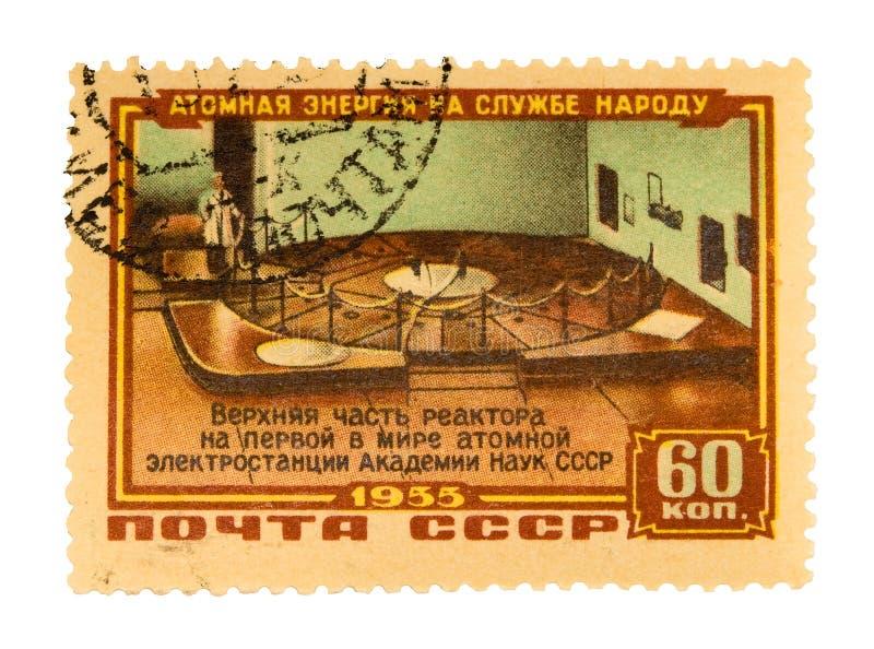 Sello de Rusia de la vendimia fotos de archivo