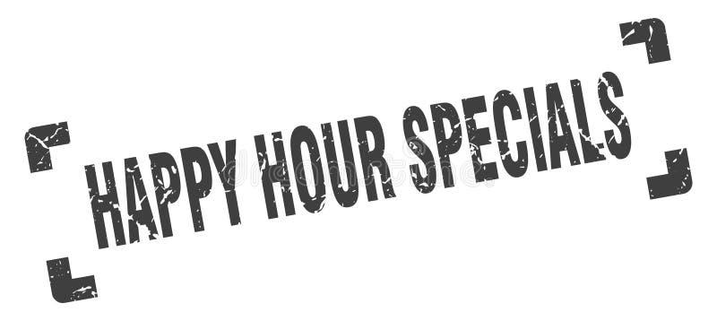 Sello de specials de la hora feliz ilustración del vector