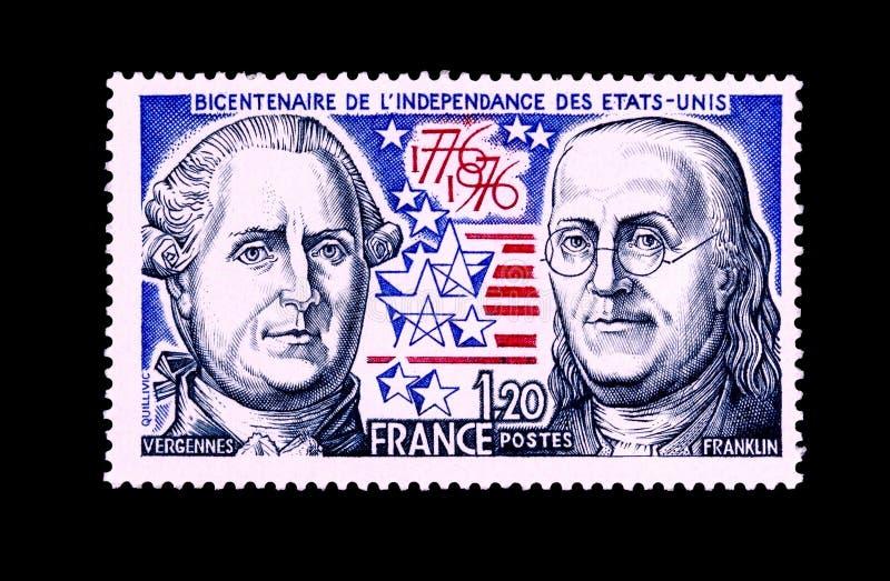 Sello del bicentenario de la independencia de los E.E.U.U. fotografía de archivo libre de regalías