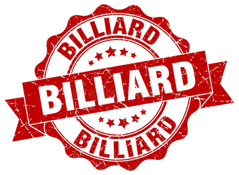sello del billar sello stock de ilustración