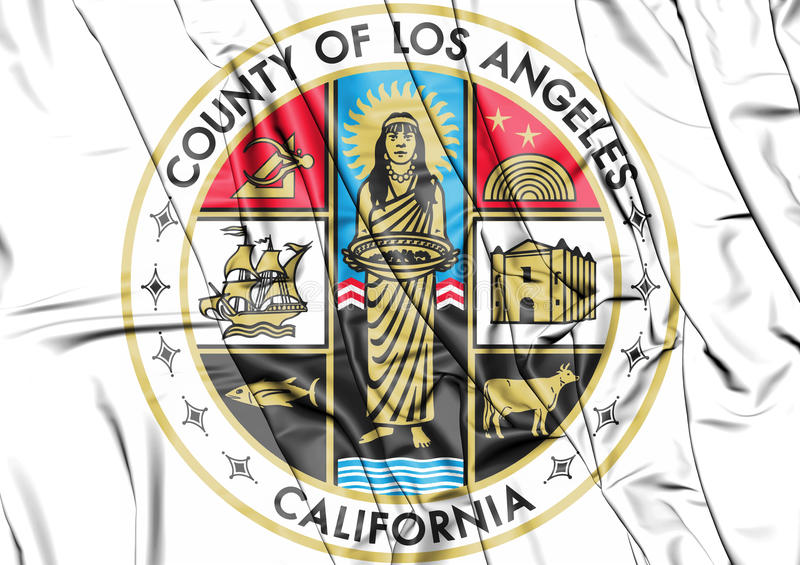 Sello del condado de Los Angeles, los E.E.U.U. stock de ilustración