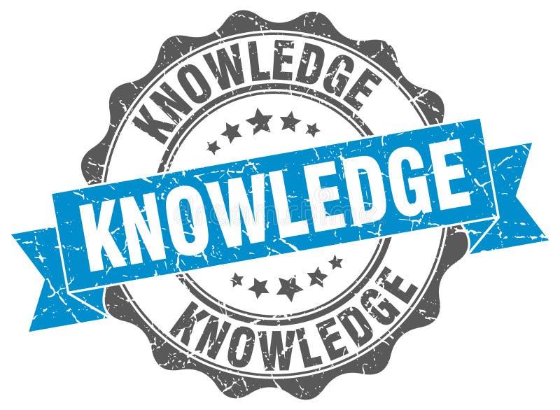 sello del conocimiento sello ilustración del vector